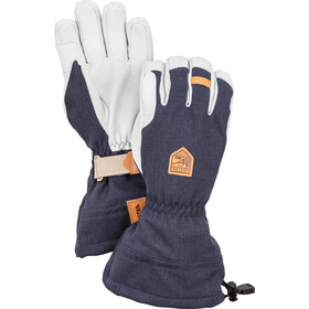 Hestra M's Army Leather Patrol Gauntlet Gloves navy